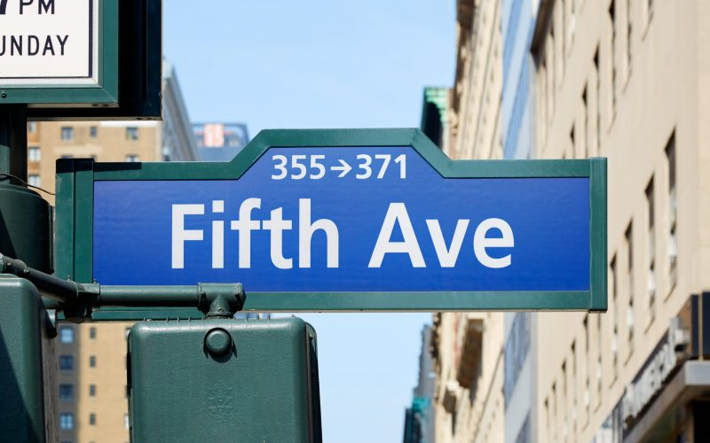 Fifth Avenue street in a sunny day in New York city